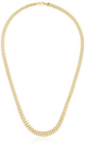 """14k Yellow Gold Italian Graduated Woven Link Necklace, 18"""""""