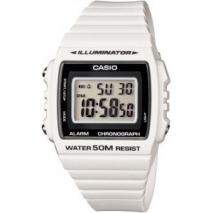 Casio Unisex Quartz Watch digital  Display and Resin Strap W-215H-7AVEF