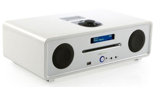 Ruark Audio R4i CD, DAB/FM Radio with integrated iPod Dock. Dream White finish