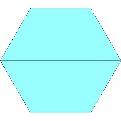 Amazon Com 10 Inch Half Hexagon Quilt Template