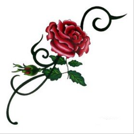 Amazon.com : Sexy Totem Rose Tattoo Stickers Temporary Tattoos Fashion