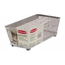 Rubbermaid Interlocking Mesh Drawer Organizer, 3- by 6-inch, Titanium (FG1F76CNTITNM)
