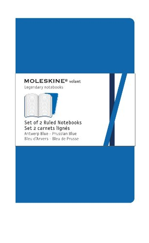 Moleskine Ruled Volant Notebook: Blue X-Large