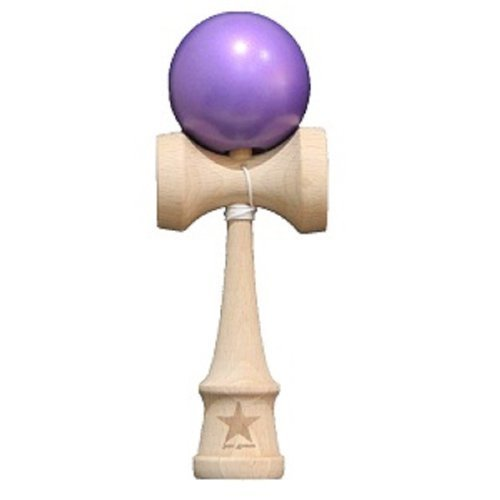 Super Kendama Metalic Purple Ball And Extra String (Kendama Extra Ball compare prices)