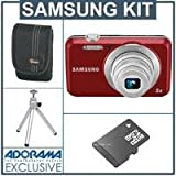 317g07Q0xXL. SL160  Samsung ES80 Digital Camera Kit   Red   with 4GB SD Memory Card, Camera Case, Table Top Tripod