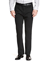 Autograph Cotton Rich Straight Leg Trousers