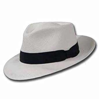 95822576 PORTOFINO RETRO Panama White Straw Hat CROWN C at Amazon Men&rsquo s