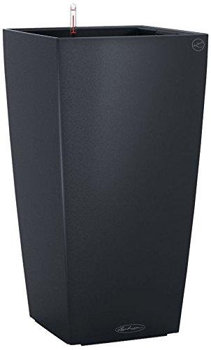 lechuza cubico color 40 planter slate matte madstencinlin. Black Bedroom Furniture Sets. Home Design Ideas