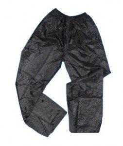 Regenhose schwarz, zum Überziehen, Unisex Wetterschutzhose Nässeschutzhose Regenschutz-Hose günstig online kaufen