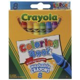 Crayola Coloring Book Washable Crayons-8/Pkg - 1