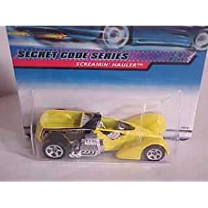 Hot Wheels 2000 048 SECRET CODE SERIES yellow Screamin' Hauler 4 of 4 cars 1:64 Scale Die-Cast Collector Car 1:64 Scale