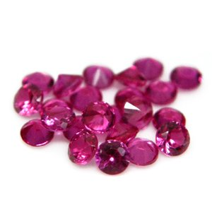 Round 3mm Synthetic Red Ruby #5 Loose Gemstone