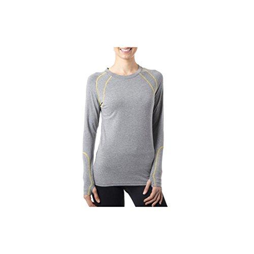 Tasc Performance Adspire Fitness Yoga Long Sleeve Upf 50+ Long Sleeve Tee Shirt, Heather Gray, Medium front-772696