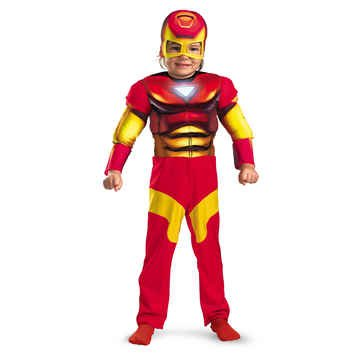 Iron Man Muscle Chils Costume Size 4-6 Small