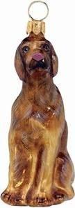 Pet Set Blown Glass European Dog Ornament -Rhodesian Ridgeback