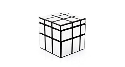 Shengshou 3X3X3 Mirror Blocks Puzzle Speed Cube-Silver - (Premium Quality)