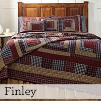 "4Pc Finley Hand Quilted Queen Quilt Bedding Set 2 Shams 1 Burlap Pillow ""Simply Blessed"" 15% Discount front-567122"