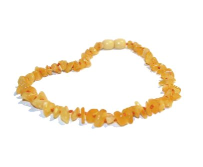 Infant Amber TM *Safety Knotted* HONEY Natural RAW Baltic Amber Teething Necklace (Unisex)-- Easy Twist-in Screw Clasp- High Quality Guaranteed to Help with Anti-inflammatory, Drooling & Teething Pain - 1