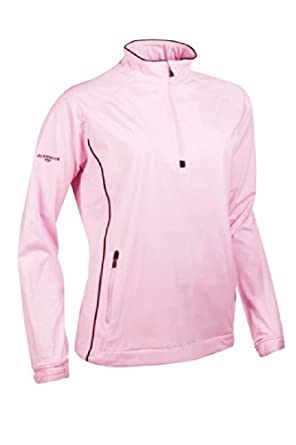 Glenmuir Ladies Zip Neck Long Sleeve Piped Golf Windshirt by Glenmuir