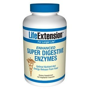 Life Extension Enhanced Super Digestive Enzyme, 100  Vegetarian Capsules