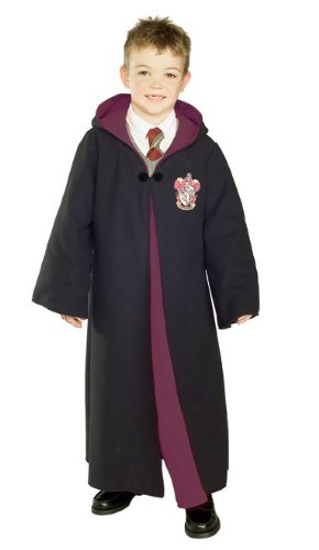 Rubies Costume Deluxe Harry Potter Child's Costume Robe With Gryffindor Emblem, Large