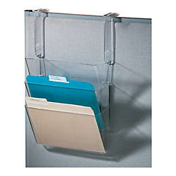 Office Depot Stak-A-File(TM) Starter Set With Hangers, Clear, 59761