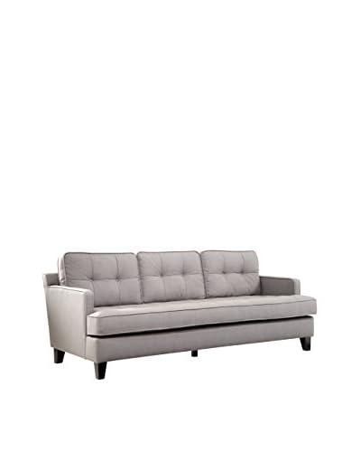 Armen Living Eden Sofa Cement Gray Fabric, Gray