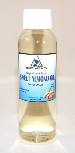 Sweet Almond Oil Organic Carrier Cold Pressed Refined 100% Pure 2 Oz front-829196