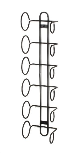 Spectrum Diversified 48810 Wine Rack Wall Mount, 6-Bottle, Black (Wine Bottle Rack Mounted compare prices)