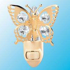 Swallow Tail Butterfly Night Light..... Clear Swarovski Austrian Crystals - 1