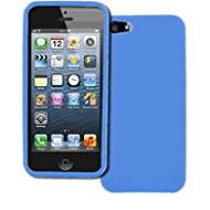 EMPIRE Apple IPhone 5 Case Cover Light Blue Textured Poly Skin TPU Case