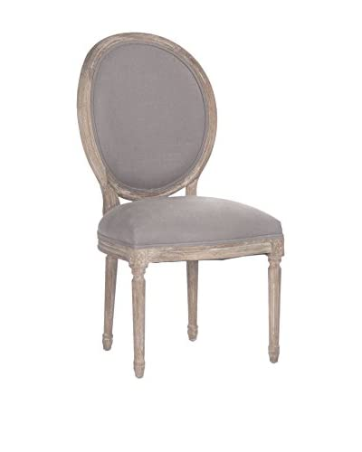 Zentique Medallion Side Chair, Grey/Limed Grey