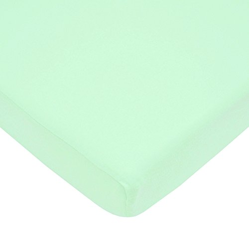 American Baby Company 100% Cotton Value Jersey Knit Fitted Portable/Mini Crib Sheet, Mint (Crib Sheet Fitted compare prices)