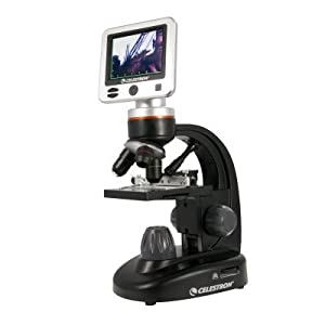 Celestron LCD Digital Microscope II, 5MP, 320x240 Resolution, 430cd/m2 Brightness, CMOS Sensor, 10x Magnification