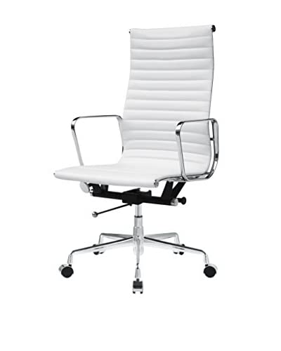 Manhattan Living Togo High Back Chair, White