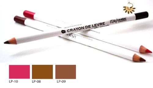 Itay Mineral Cosmetics Set of 3 Lip Liner Pencils (8,9,10) + Cala Dual Pencil Sharpener