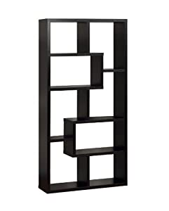 Enitial Lab Modern Backless Display Stand/Bookcase, Black