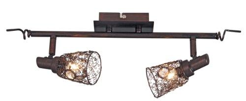 "Wandspot ""Cottage"" 2-flammig, Länge 70 cm, Metall rost 1112620"