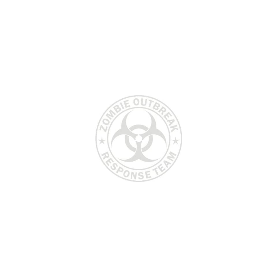 12 Large Etched Zombie Outbreak Response Team Die Cut Vinyl Decal Sticker