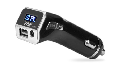 Pyle PLMP2A FM Radio Transmitter with USB Port and AUX Input Car Lighter Adaptor (Car Transmitter compare prices)