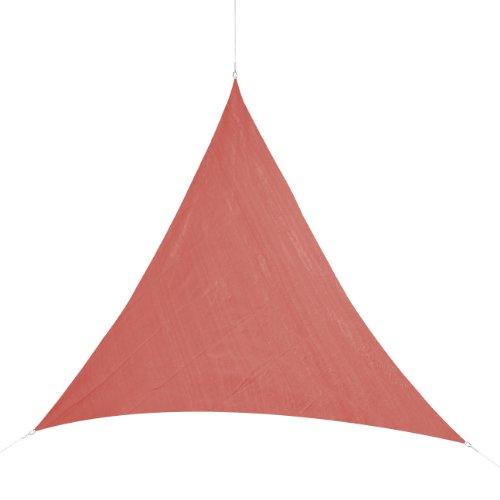 Corasol COR11TR5-RR - Vela de sombra para patio (resistente al agua), color rojo, 5 x 5 x 5 m