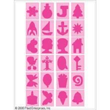 Plaid 29364 Letter Stencil Value Pack, 4-Inch Icons front-769519