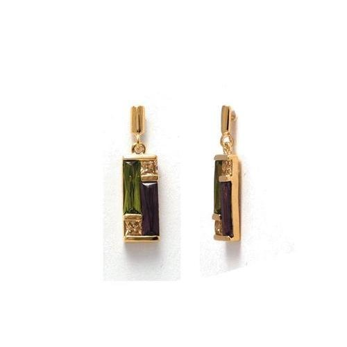 Simply Glamorous Jewellery And Gifts Shop - 18ct Gold Filled Multi Gemstone Crystal Stud Earrings