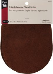 Suede Cowhide Elbow Patches 4 3/4