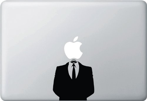 "Anonymous Suit - (Variable Sizing Available) Macbook Vinyl Decal Sticker (13"" Macbook)"