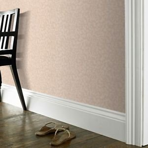 Fabric Effect Scroll Wallpaper - Beige from New A-Brend