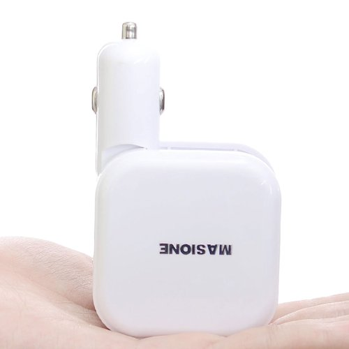 Masione™ 2 In 1 Dual Usb Car Cigarette Usb Charger And 2.4Amps Home Wall Travel Ac Charger Power Adapter For Apple Ipad Air, New Ipad 4 3 2 Gen, Ipad Mini , Ipod Nano, Ipod Classic, Iphone 5S 5C 5 4S 4 3 3Gs,Ipod Touch, Samsung Galaxy Tab S5 S4 S3 S2, Not front-159701