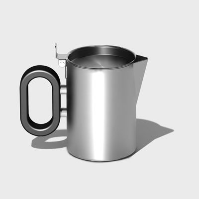 Steelforme Brushed 5Oz Stainless Steel Creamer front-1007133