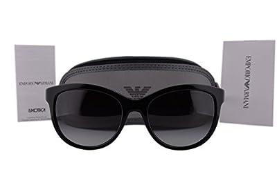 Emporio Armani EA4076 Sunglasses Black w/Gray Gradient Lens 50178G EA 4076 For Women