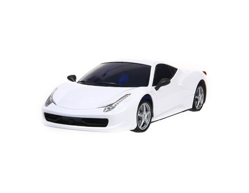 KAI DENG GT-500 1:18 4 Wheels Rechargeable Remote Control Drift RC Racing Car with Light (White)